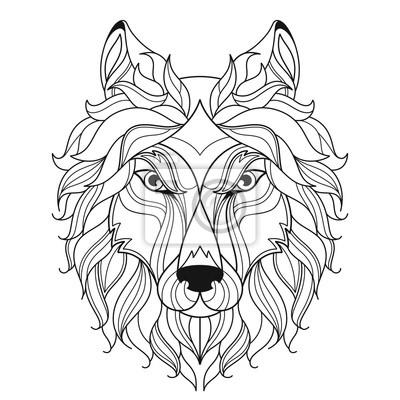 Malvorlage Wolf Kopf Coloring and Malvorlagan