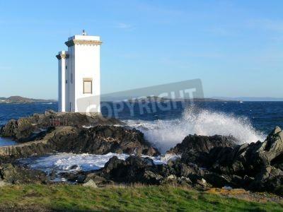 Carraig fhada lighthouse on the isle of islay scotland