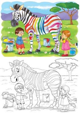 Malvorlage Zebra Zebra Malen