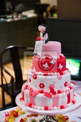 Hochzeitstorte Schwarz Rot
