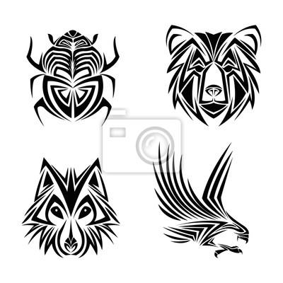 águila Lobo Oso Insecto Tatuaje Animal Dibujar Extracto