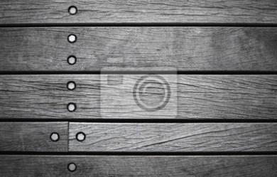 Pared gris oscuro de tablas de madera pinturas para la pared • cuadros revestimiento tablón madera dura myloview es