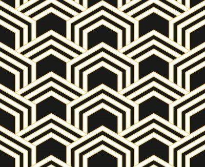 art deco motif de papier peint vintage sans couture decoration images myloview