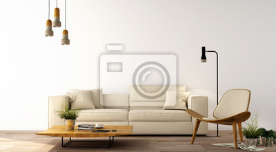 design dinterieur salon moderne avec canape fauteuil table images myloview