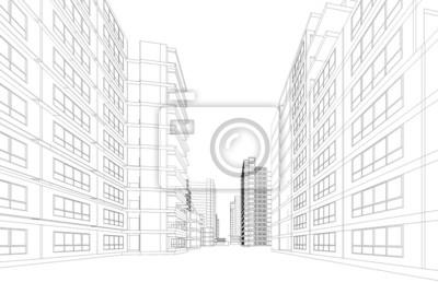 perspective de rendu 3d de vue aerienne des batiments de la ville images myloview