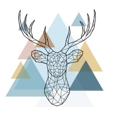 tete de cerf geometrique style scandinave images myloview