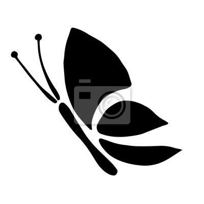 vector illustration en noir et blanc dinsectes papillon isole images myloview