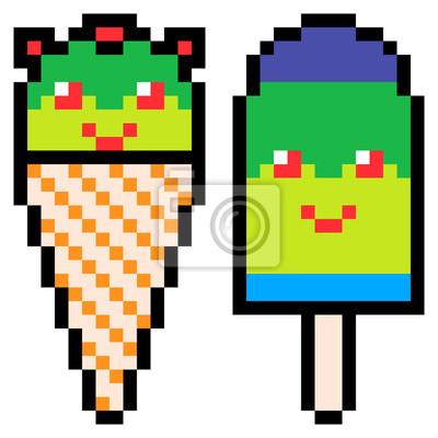 papiers peints illustration conception pixel art glace creme