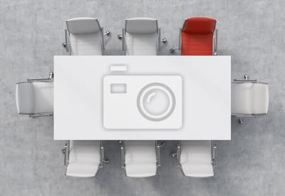 papiers peints vue de dessus dune salle de conference une table rectangulaire