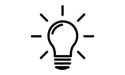 pictogramme ampoule idee ampoule lampe ampoule electrique posters myloview