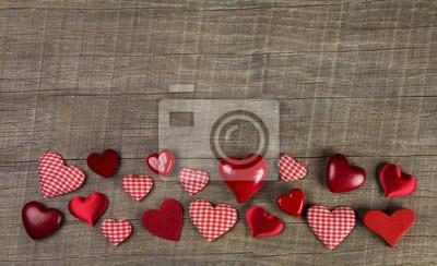 Rifinisce con dolcezza le pareti di stanze a loro dedicate. Sfondo Di Legno Rustico Con Cuore Rosso Percalle Carta Da Parati Carte Da Parati Bavarese Chequered 14 Febbraio Myloview It