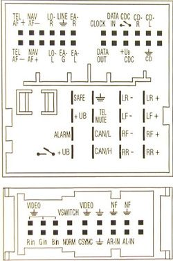 kenwood car radio wiring diagram a boat trailer volkswagen navigation 7l6 035 191n - china from ...