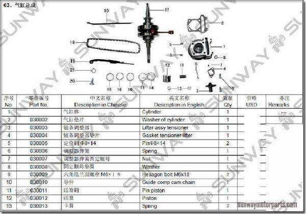 50cc 4 stroke GY6 Short Case QMB139 GY6 Engine