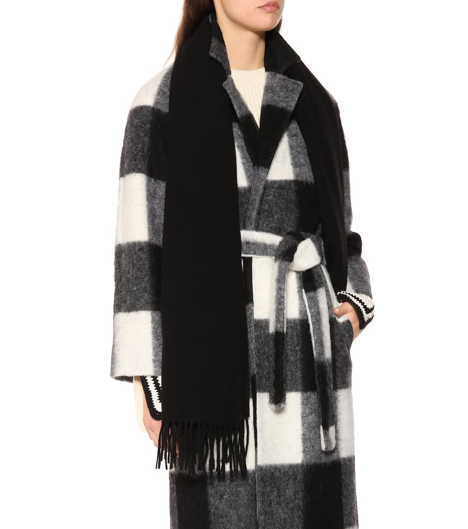 Acne Studios Canada Anthracite Wool Scarf In Black | ModeSens