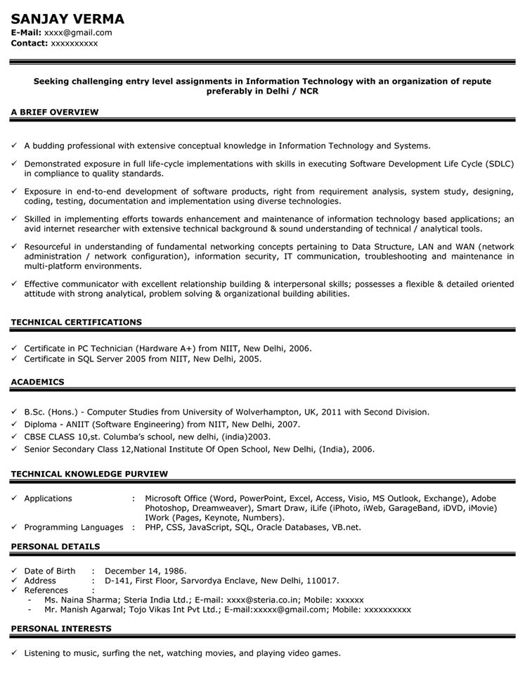 sales resume for freshers