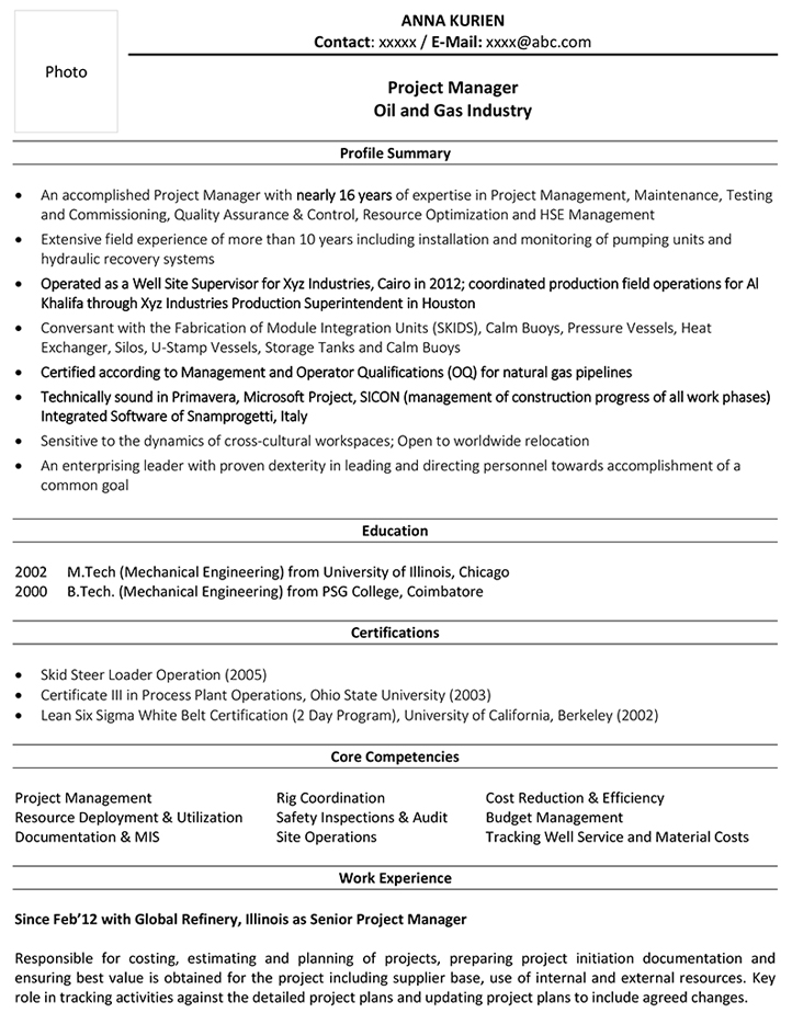 You can handle anything that your future projects will throw at you. Project Manager Cv Format Project Manager Resume Sample And Template