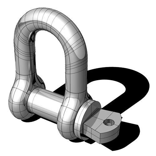 直線型帆船卸扣 - Posidonia S.r.l. - 鍛造 / 不銹鋼