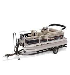 outboard pontoon boat electric sport fishing 7 person max bass buggy 16 dlx et [ 900 x 900 Pixel ]