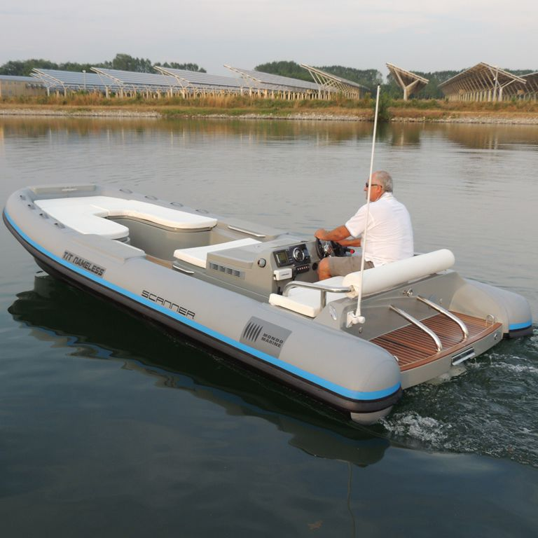 Hydro-jet inflatable boat - COSMO 560 - Scanner - diesel / rigid / side console
