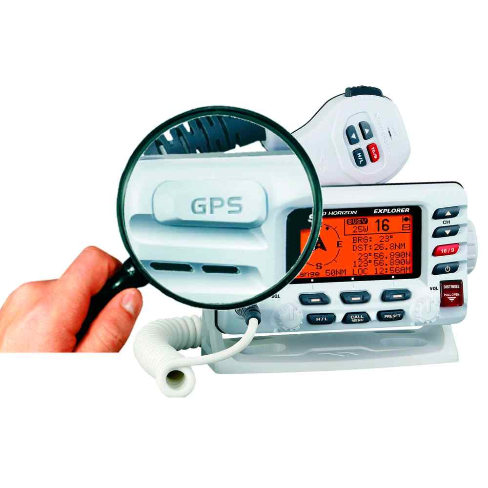 medium resolution of boat radio fixed vhf waterproof explorer gx1700