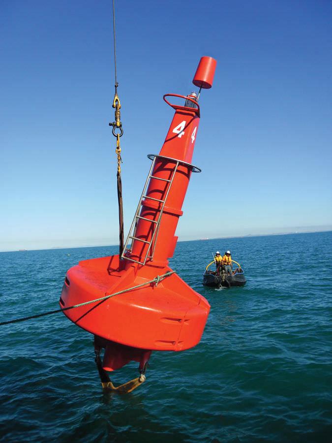 Beacon buoy - Atlantic-2600 - Sealite - high seas / with signal light / stainless steel