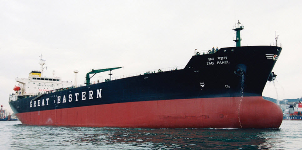 Chemical tanker cargo ship - GREAT EASTERN - HANJIN HEAVY INDUSTRIES AND CONSTRUCTION - VLCC
