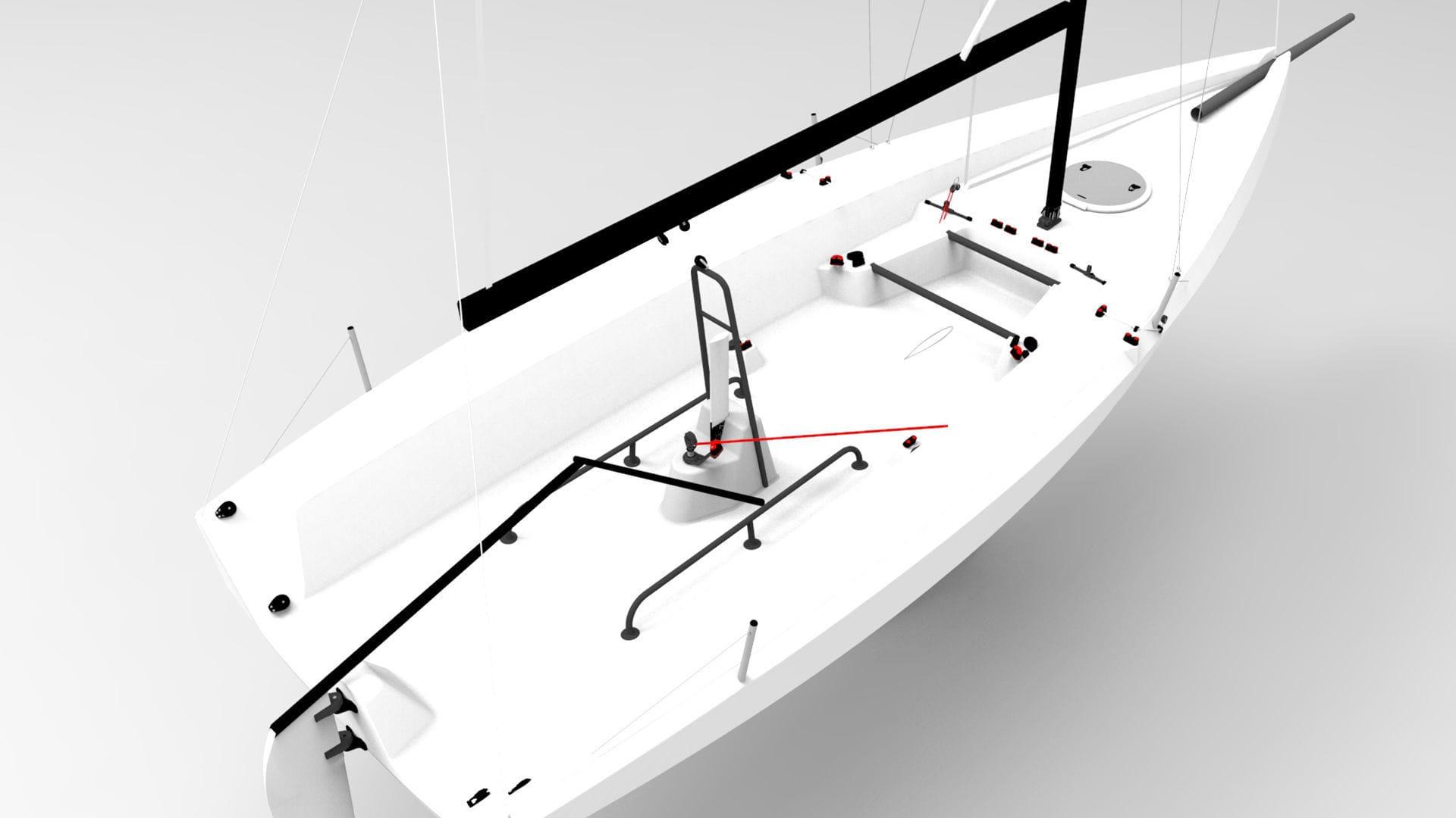 hight resolution of  monohull sport keelboat racing open transom