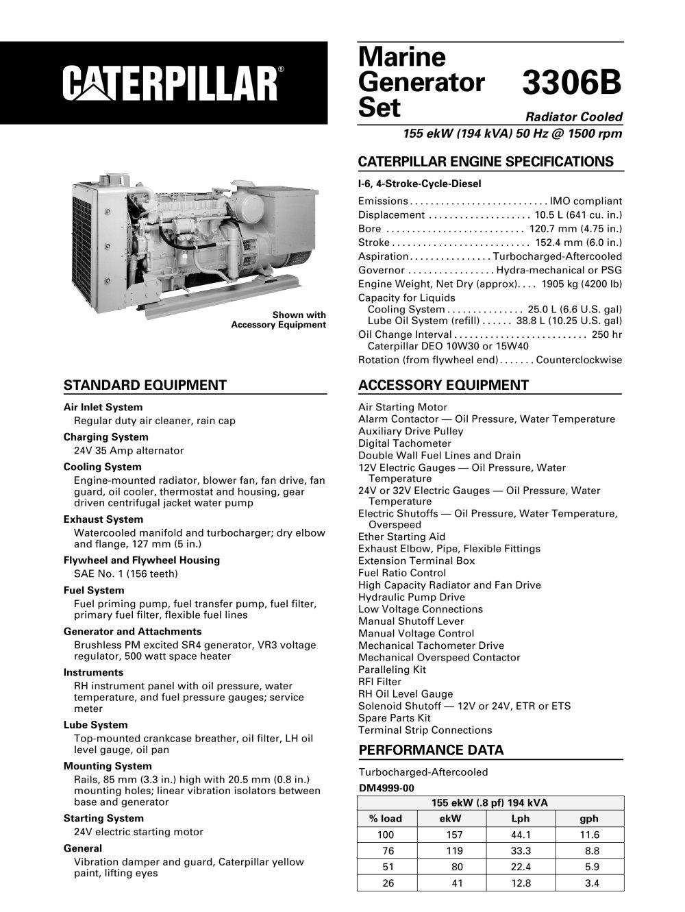 medium resolution of cat 3306b dita genset 1 14 pages