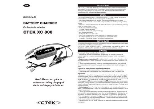 small resolution of ctek xc 800 1 2 pages