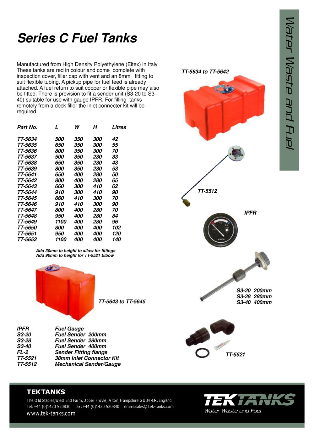 hight resolution of tek tanks catalogue 1 34 pages