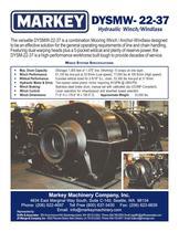 DYSMW-22-37 Hydraulic Winch/Windlass - Markey Machinerympany - PDF Catalogs | Documentation | Boating Brochures