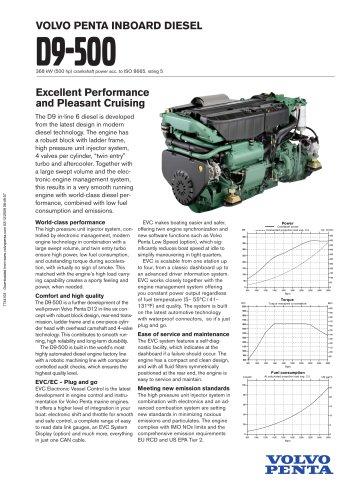 Tous les catalogues et fiches techniques (PDF) Volvo Penta