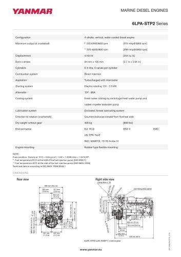 Tous les catalogues et fiches techniques (PDF) Yanmar