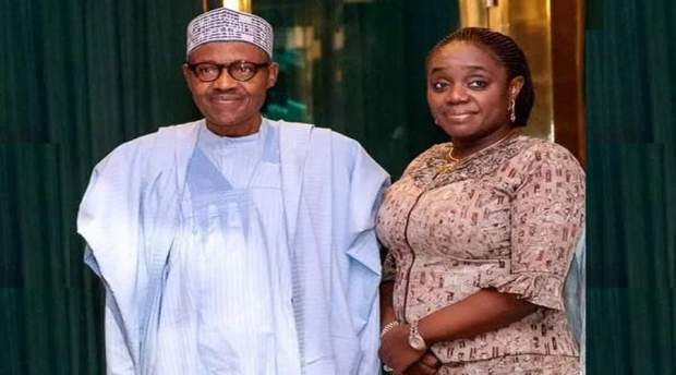 President Buhari And Kemi Adeosun Tile