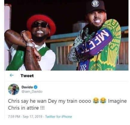 Assurance2020 Chris Brown Asks To Be On Davido%E2%80%99s Groomsmen Train
