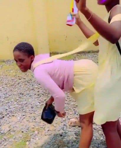 Female Ss3 Students Twerk Away Their Sorrows As Waec Exams Come To An End Video 1