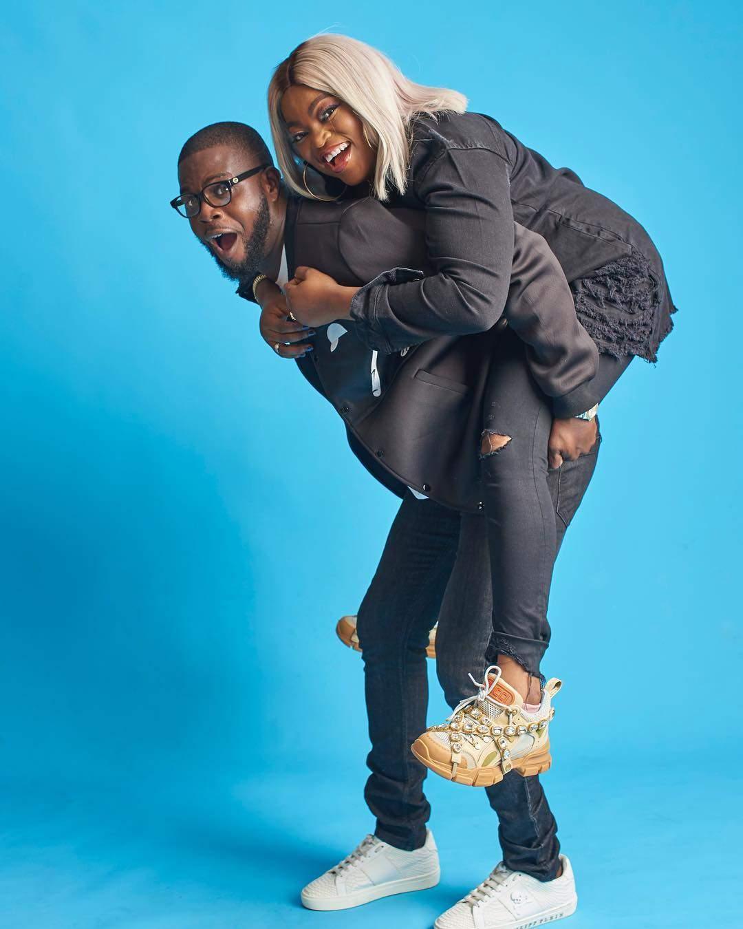 JJC Skillz And Funke Akindele Are Too Cute For Words In Birthday Shoot 3