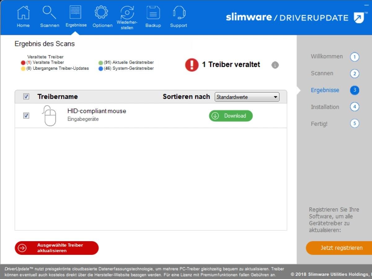 Slimware Driverupdate - Download | NETZWELT