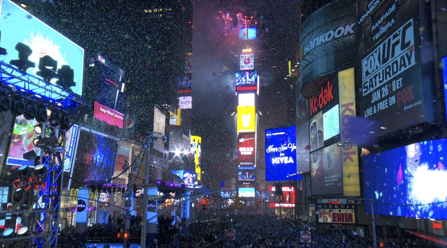 Times Square New Years Eve on Livestream