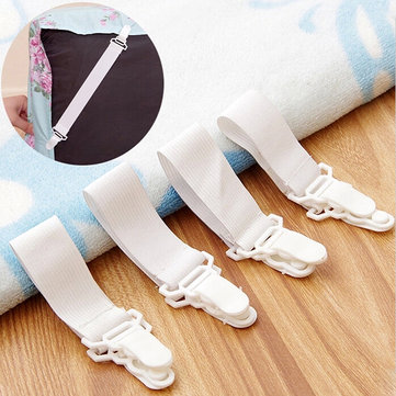 4pcs Bed Sheet Grippers Clip Holder Fasteners Set Elastic Blankets Clip