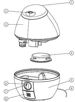 Vicks Mini CoolMist Humidificateur Ultrasonique 1 Pièce