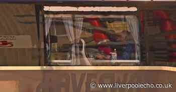 Real Madrid team bus has window SMASHED driving into ...