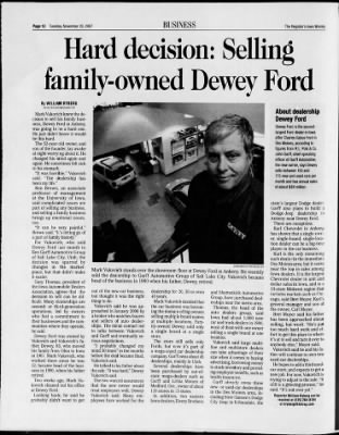 Dewey Ankeny : dewey, ankeny, Moines, Register, Moines,, November