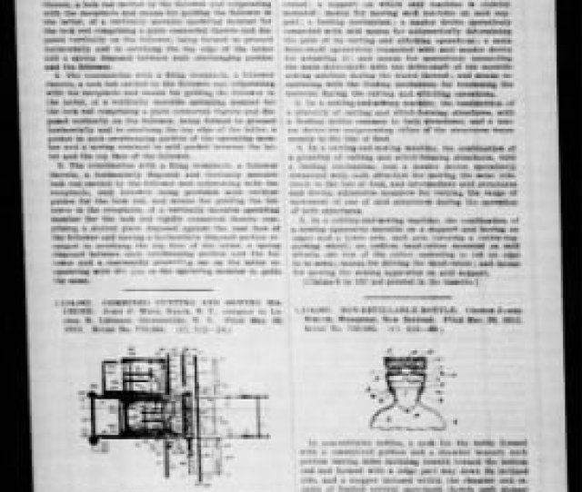 Official Gazette Of The United States Patent Office From Washington District Of Columbia On October 20
