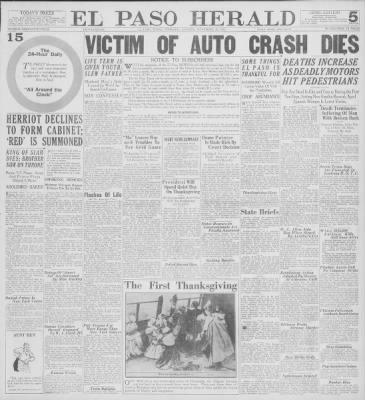 El Paso Herald from El Paso, Texas on November 26, 1925