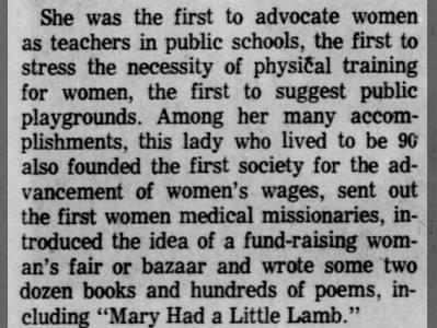 The many accomplishments of Sarah Josepha Hale