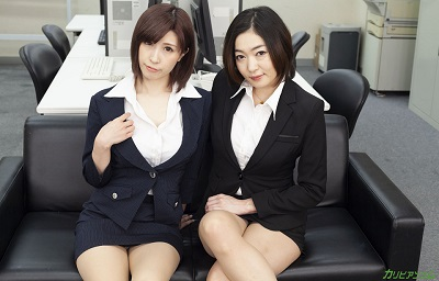 Carib 042620-001 Enami Ryuu,Orihara Honoka Escalating female bosses -Underwear development department is a women's battlefield-