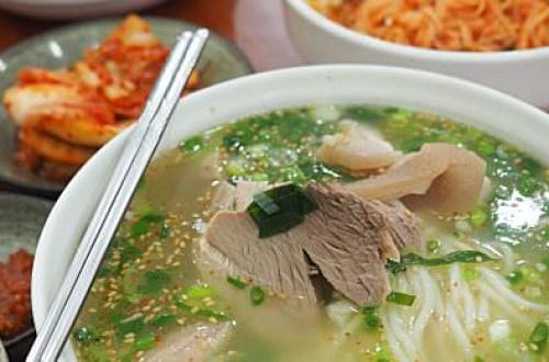 【濟州島】올래국수 pork noodles soup 濟洲市必吃的麵店