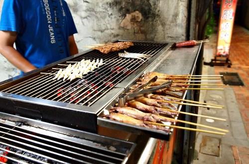 台南、中西區 阿龐燒烤.巷弄裡的平價串燒