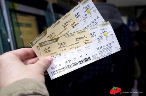 韓國交通|搭乘巴士往江陵購票及搭乘方法